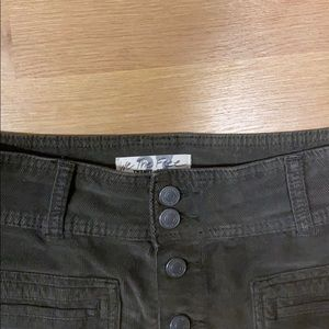 Free People Skirts - Free People olive green corduroy skirt. Size 27
